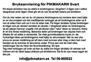 Bruksanvisning för Pikmakarn Svart